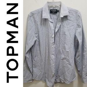 TOPMAN Men's Button-Down Dress Shirt